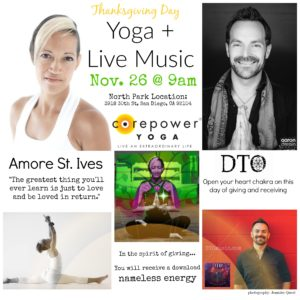 Thanksgiving Yoga by Amore St. Ives and Live DTO Music Collage